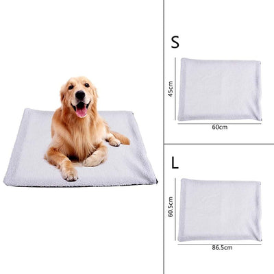 heated dog house, dog heating pad, puppy heat pad, self heating dog bed, pet warming pad, Heated Dog Blanket - Self Heating Pad