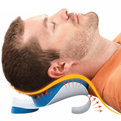 outad travel pillow therapeutic neck support sleep foam tension pain reliever cushion