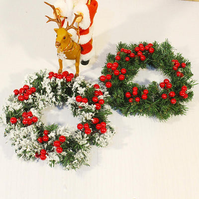 red berry stems, artificial berry stems, red berry twigs, Artificial Red Berry Stems - Christmas Wreath Decorations