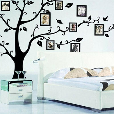 Family Tree Picture Frame | Wall Decor Stickers | Large Family Tree Wall Decals | 3D DIY Photo Frame Wall | Stickers Mural for Living Room  | Sofa TV Art Wall Background | wall stickers | wall decor stickers | family tree picture frame | wall art decals | family tree frame | family wall art | family wall decals | family tree wall decal | family tre