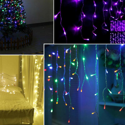 lighted garland outdoor, stair garland, pine garland, garland decoration, white garland, outdoor garland, pre lit garland outdoor, string lights, 10M 100 LED Lighted Garland Outdoor - Garland Decoration