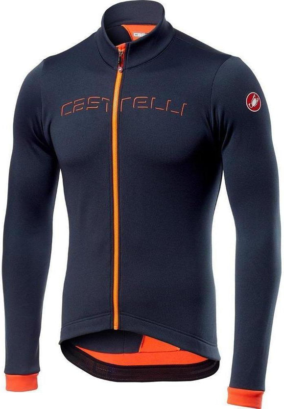 Castelli Fondo Men's Thermal LS Jersey - Navy