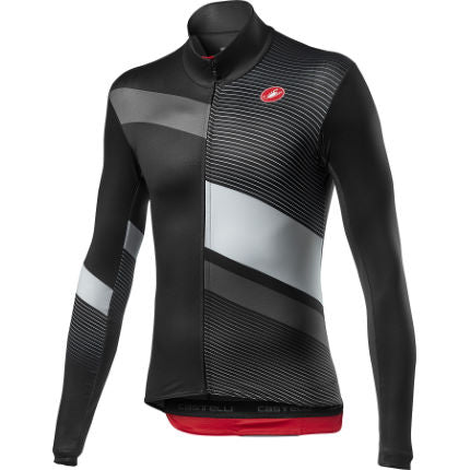 CASTELLI Mid Thermal Pro Long Sleeves Jersey - Grey Black