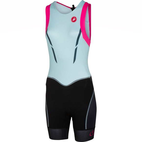 Castelli FREE Women's Tri Suit Back Zip - Powder Blue