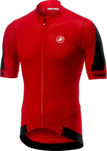 CASTELLI VOLATA 2 SHORT SLEEVES JERSEY RED BLACK