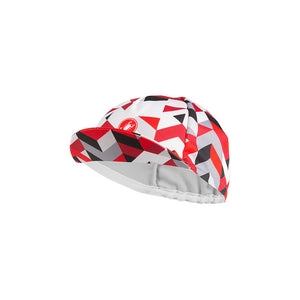 CASTELLI PRISMA CYCLING CAP - WHITE-RED