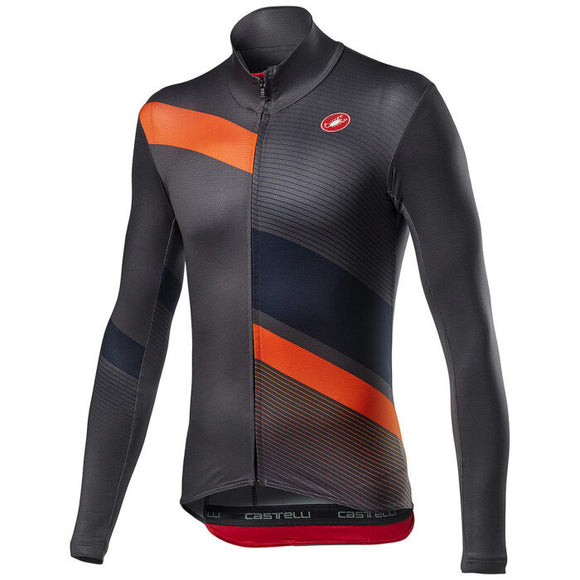 CASTELLI Mid Thermal Pro Long Sleeves Jersey - Grey Orange