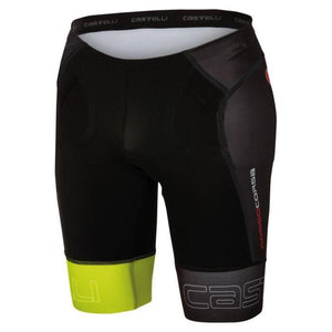 CASTELLI FREE Tri Shorts Mens - Fluo Yellow