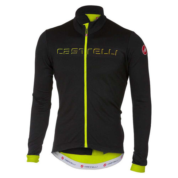 Castelli Fondo Men's Thermal LS Jersey - Black/Fluo