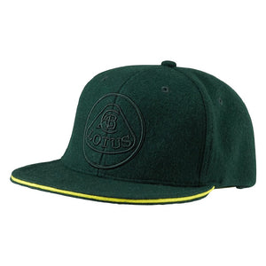 Lotus Flat Peak Green Baseball Cap