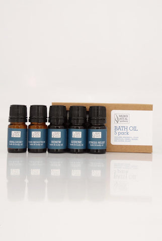 Bath Oil 5 Pack - Sanctuary Spa Houston