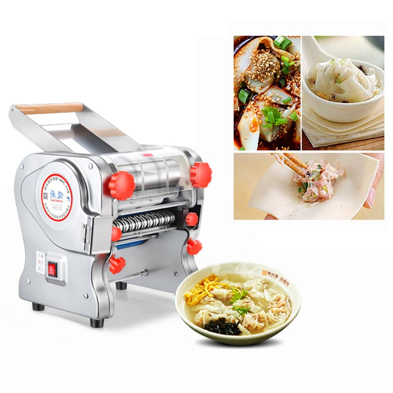 110V/220V Stainless Steel Pasta Making Machine Noodle Maker Operated Spaghetti Pasta Cutter Noodle Hanger Home Commercial