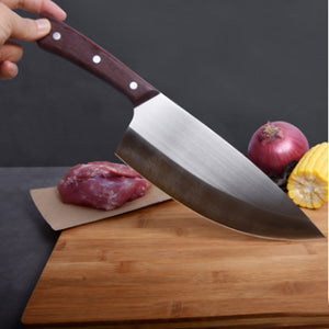 Liang Da 8 inch Professional Stainless Steel Forged Chinese Knife Meat Cleaver Butcher Chopping Knife Kitchen Chef Knives