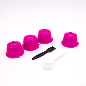 4pcs/Pack Reusable Dolce Gusto Coffee Capsule Plastic Refillable Compatible fit for Dolce Gusto Coffee Machine Coffee Filter