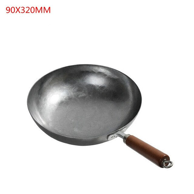 Kitchen Iron Chinese Iron Wok Wok Nonstick Pan Non-coating Gas Cooker Cookware Smokeless Cooking Pan