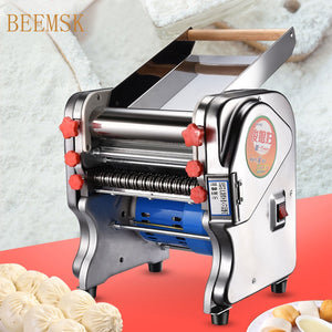 Stainless steel electric noodle machine Noodle Dumpling Pasta Maker Dough Cutter dumpling skin machine Noodle press 220V EU PLUG