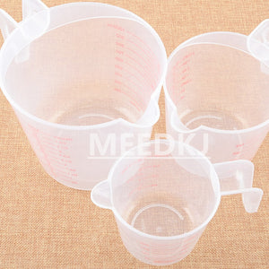 250/500/1000ML Plastic Measuring Cup Jug Pour Spout Surface Kitchen Tool Supplies Quality cup with graduated quality Kitchen1pcs