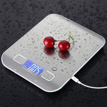 Load image into Gallery viewer, Stainless Steel Digital USB Kitchen Scales 10kg/5kg Electronic Precision postal Food Diet scale for Cooking Baking Measure Tools