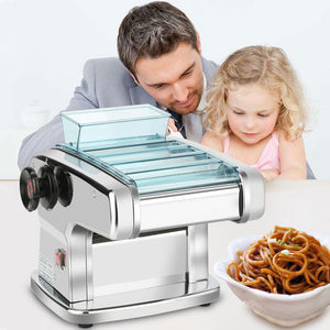 electric automatic noodle pasta press machine stainless steel noodle cutting dumpling skin machine rolling surface machine