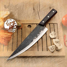 Load image into Gallery viewer, Free Shipping Metal Forged Handmade Clip Steel Chef Boning Knife Split Butcher Meat Knife Kitchen Professional Slicing Knives
