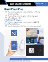 Load image into Gallery viewer, Marrath Smart Wi-Fi plug to control devices from anywhere n the world.