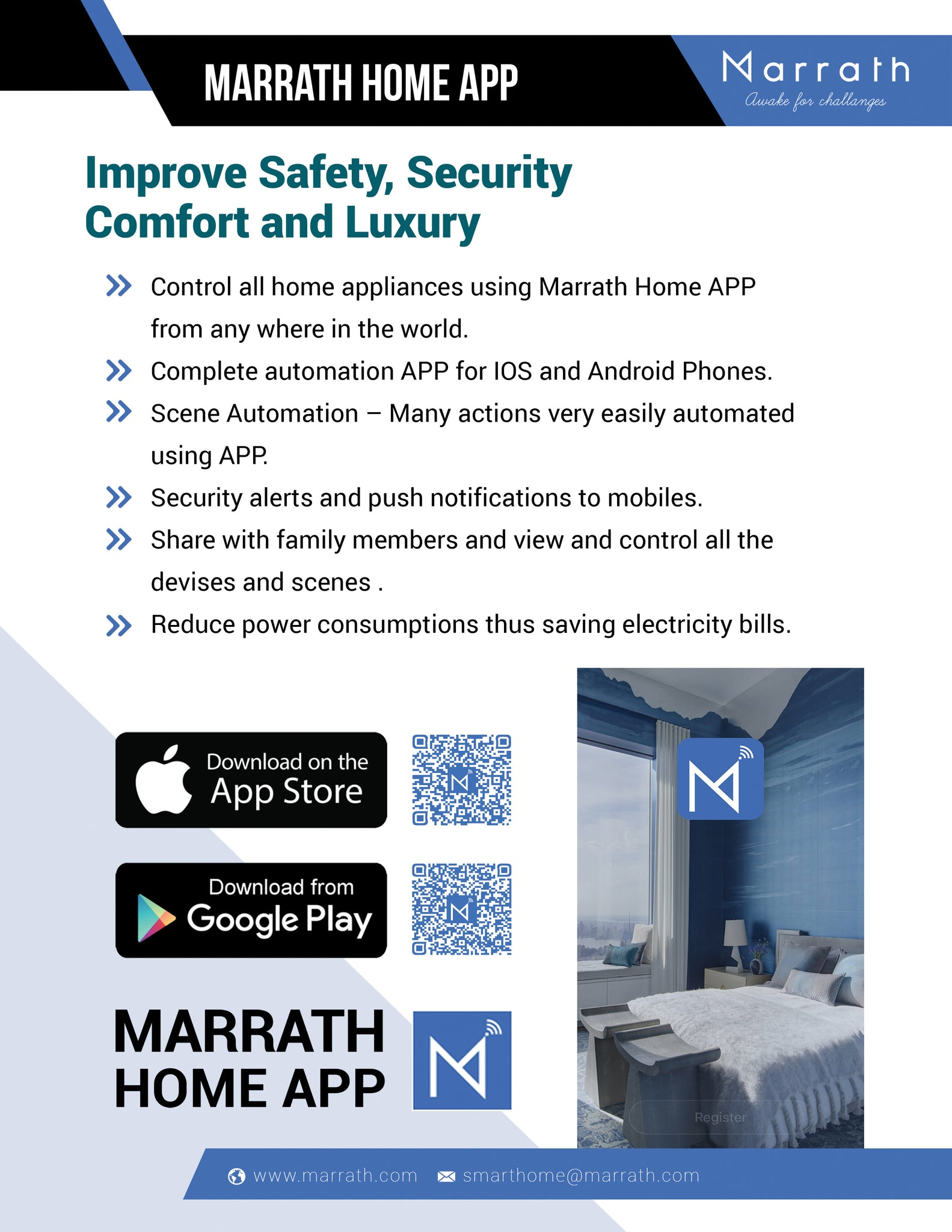 Marrath Smart WiFi multi plug to control devices from