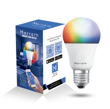 Load image into Gallery viewer, Marrath Smart Home Multi Color RGBW Wi-Fi Bulb to change the light color using Marrath Home APP