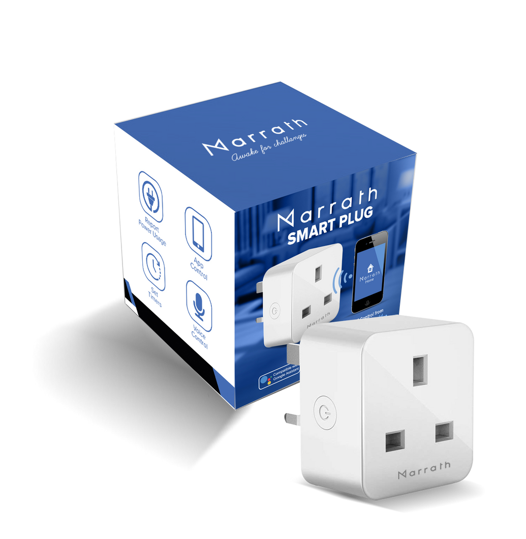 Marrath Smart Wi-Fi plug to control devices from anywhere in the world and daily report energy usage