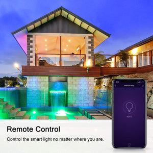 Marrath Smart Home 16 Million Color RGBW Wi-Fi E14 candle chandelier light use with Marrath Home APP