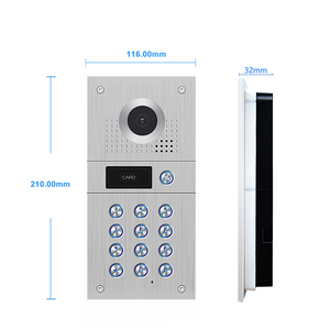 Marrath Smart 4 Wire Villa Video Door Phone with RFID cards and Passcode unlock Work With Marrath Home APP