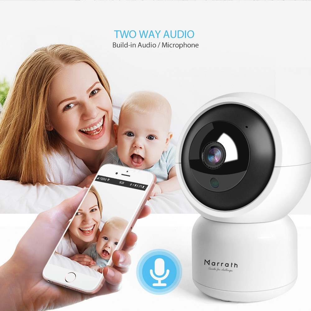 Marrath Smart WiFi 1080P Full HD IP PTZ CCTV Video Auto Tracking Camera