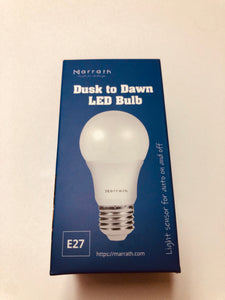 Marrath Smart Home Dusk to Dawn LED light Sensor Bulb