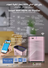 Load image into Gallery viewer, Marrath Smart WiFi HEPA Air-purifier with Ionizer,  UV lights  and  Marrath Home APP