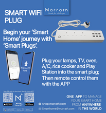 Load image into Gallery viewer, Marrath Smart WiFi multi plug to control devices from anywhere in the world using APP