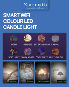 Marrath Smart Wi-Fi 16 Million Color RGBW E14 candle chandelier light use with Marrath Home APP