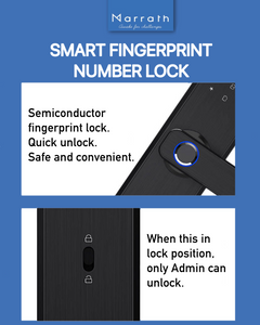 Marrath Smart WiFi Fingerprint RFID Passcode lock work with Marrath Home APP