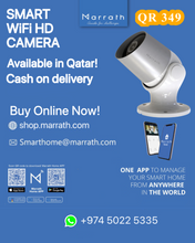 Load image into Gallery viewer, Marrath Smart WiFi HD weatherproof indoor / outdoor plug and play CCTV camera with motion detection