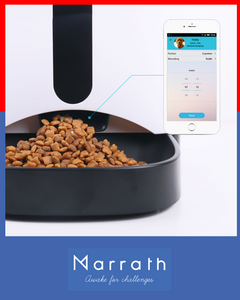 Marrath Smart WiFi  Automatic Pet Feeder with Camera, 2-Way Audio and Mobile APP