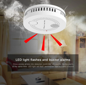Marrath Smart WiFi Smoke Sensor and Fire Alarm with Mobile APP
