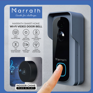 Marrath Smart WiFi HD Video Door Bell with Chime and Mobile APP