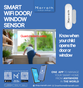 Marrath Smart WiFI Home Door / Window / Safe / Locker Sensor.