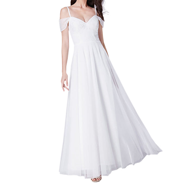 Wedding Gown For Bride Beach Boho Bridal Dress A Line Short Sleeve