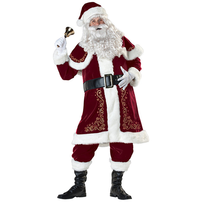 Christmas Santa Costume Set Adult Velvet Santa Claus Cosplay Set