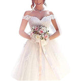 Princess Wedding Dresses For Women A Line Off The Short Short Sleeve