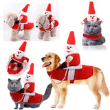 Dog Christmas Costume Santa Clause Riding On Pet Christmas Gift For Dogs
