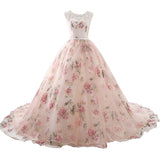 Vintage Bridal Dresses For Bride Lace Applique Floral Wedding Gown