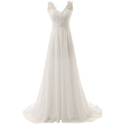 Wedding Dress Beach Bridal Dresses Lace Wedding Gown A Line Chiffon