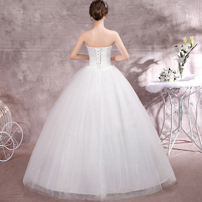 Bridal Dresses Wedding Dresses Sequin A Line Floor Length Lace Up