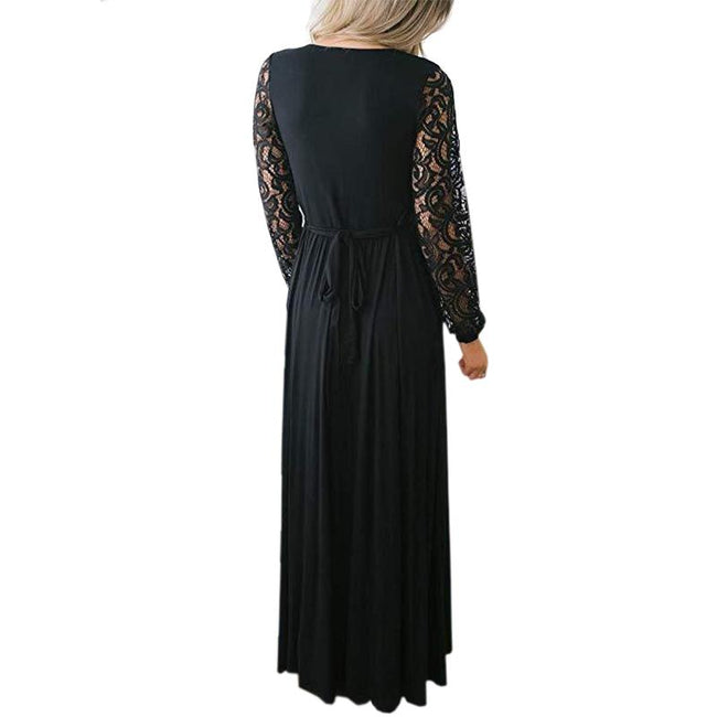 Dresses For Women Party Wedding Long Lace Sleeves Wrap V Neck