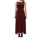 Lace Bridesmaid Dresses Sleeveless Semi Formal Wedding Party Dresses